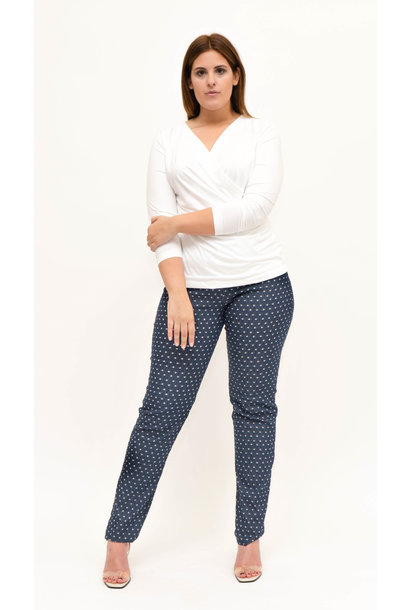 BEST Trousers in structured and printed Denim