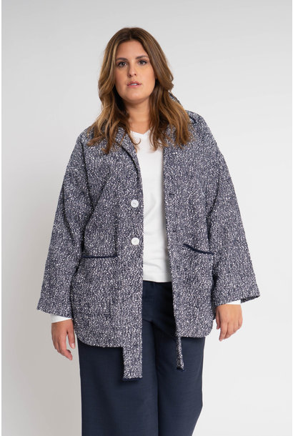 RAN Coat aus feinem Baumwoll-Bouclé
