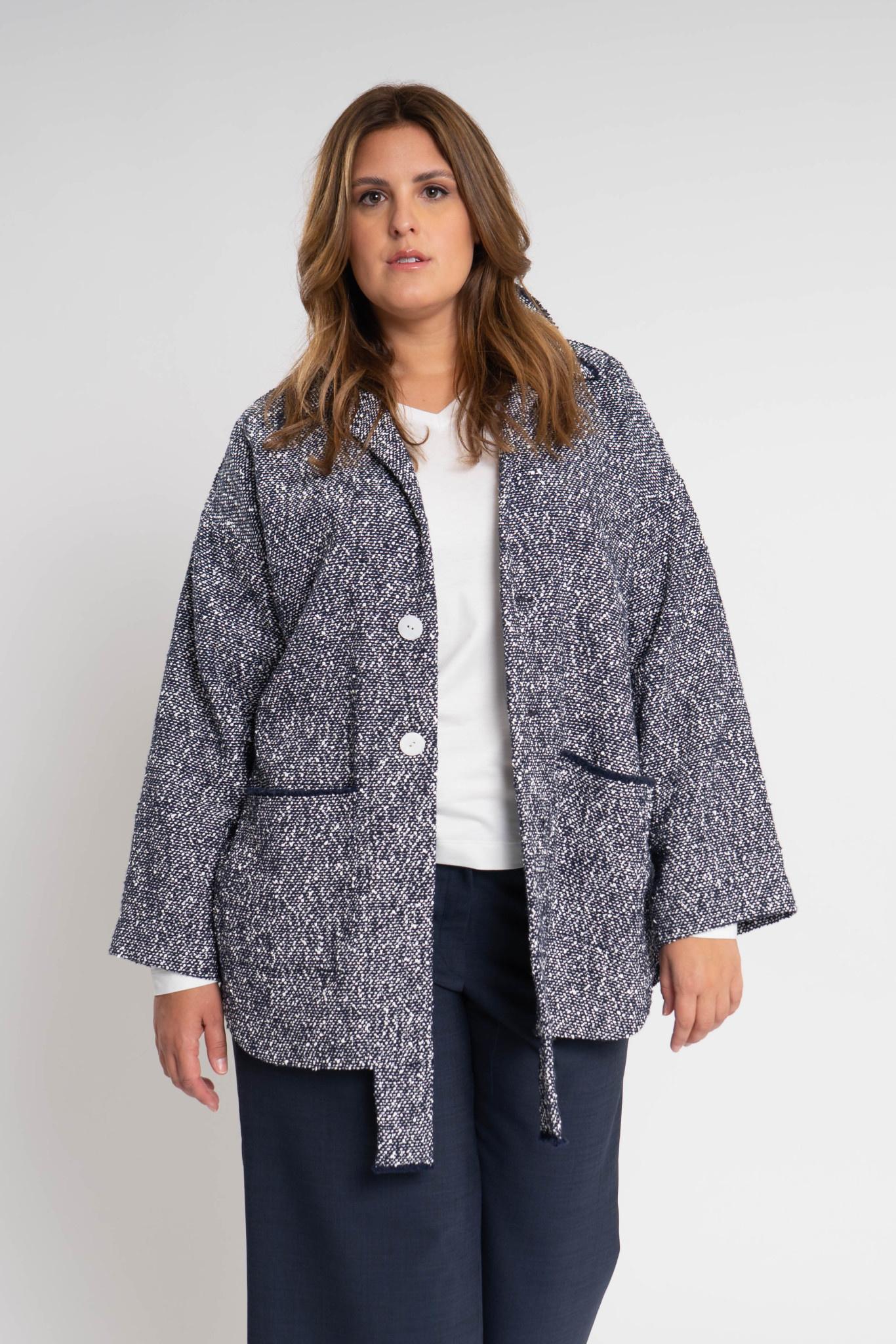 RAN Coat in fine Cotton bouclé-1