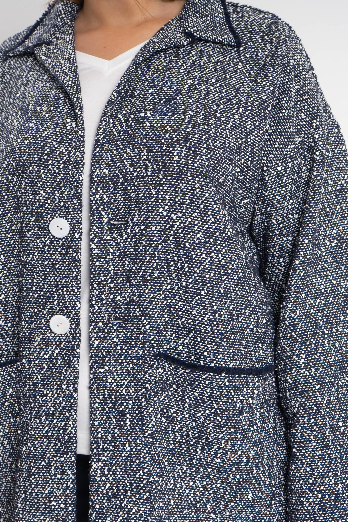 RAN Coat in fine Cotton bouclé-3