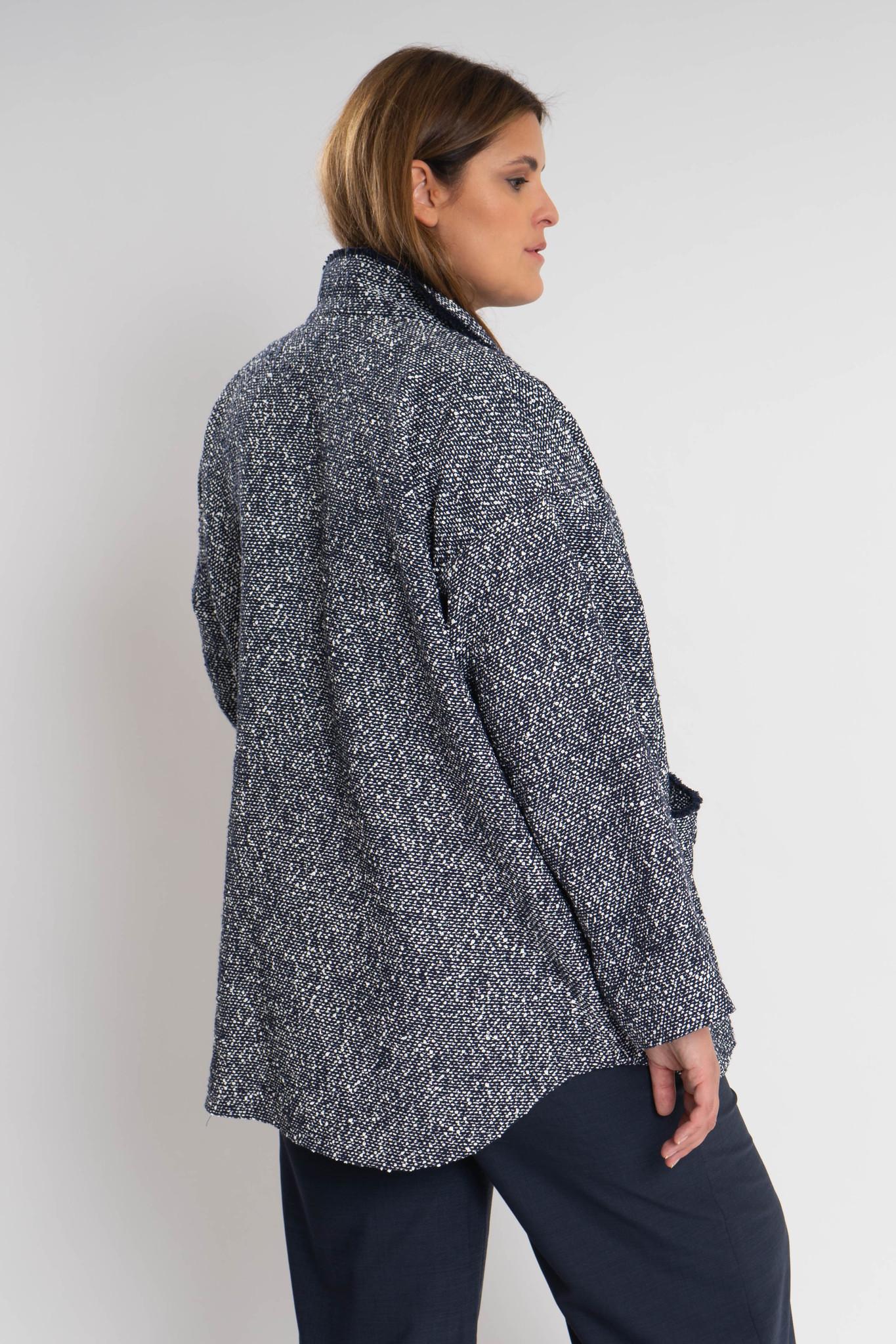 RAN Coat in fine Cotton bouclé-4