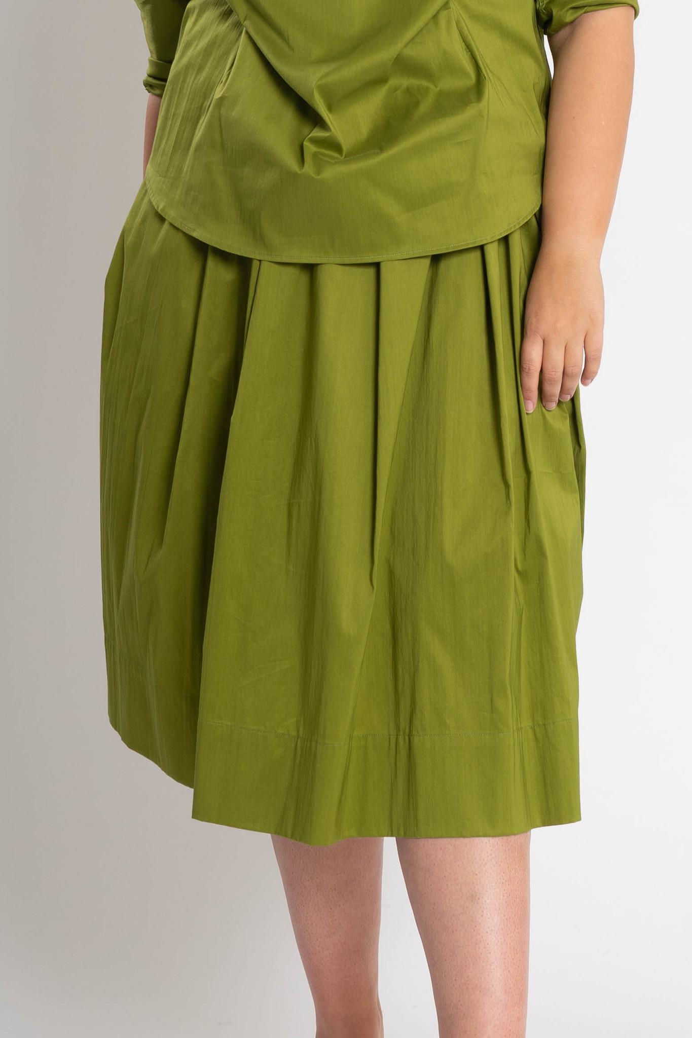 TULIP Skirt in Cotton Popeline stretch-1