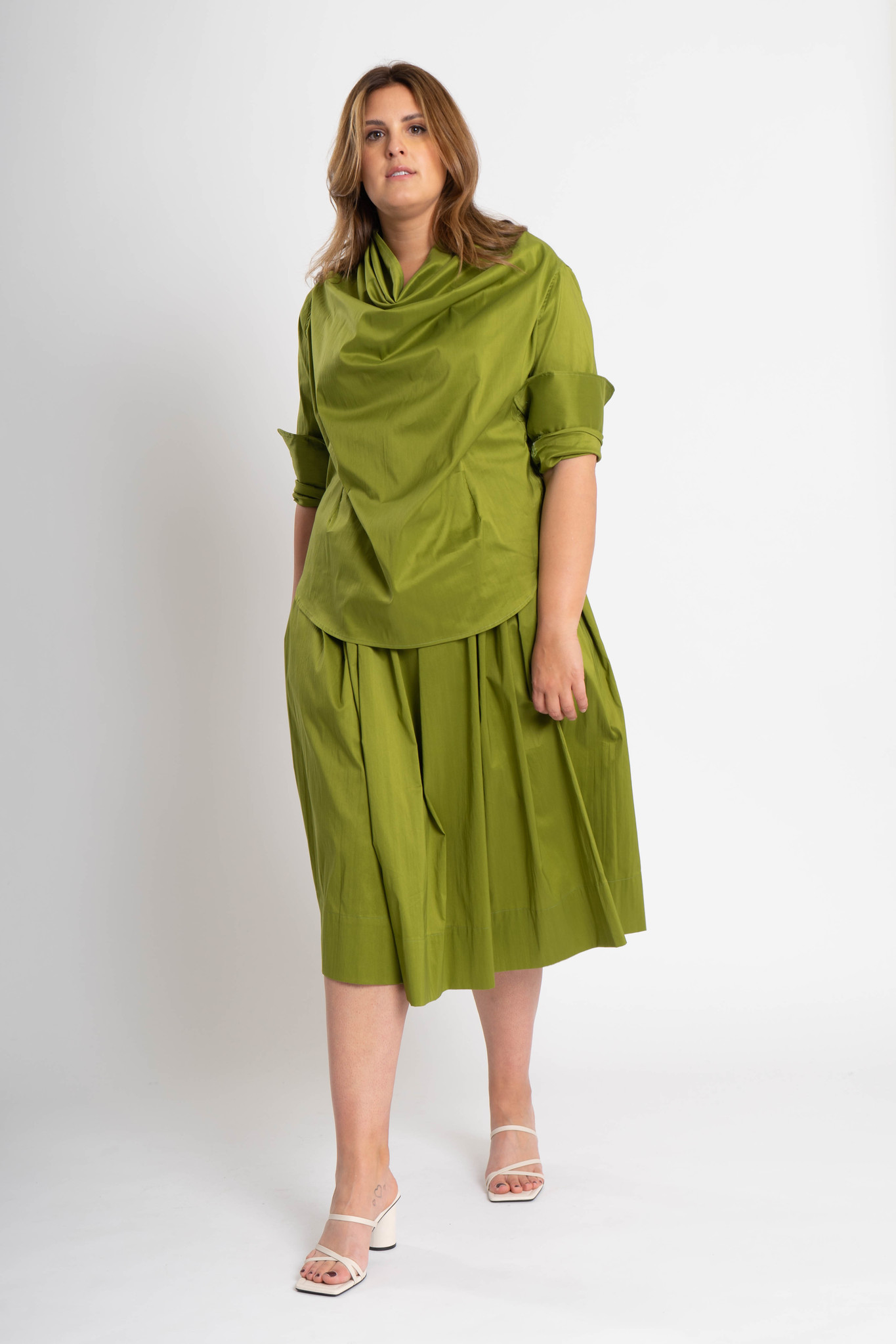 TULIP Skirt in Cotton Popeline stretch-2