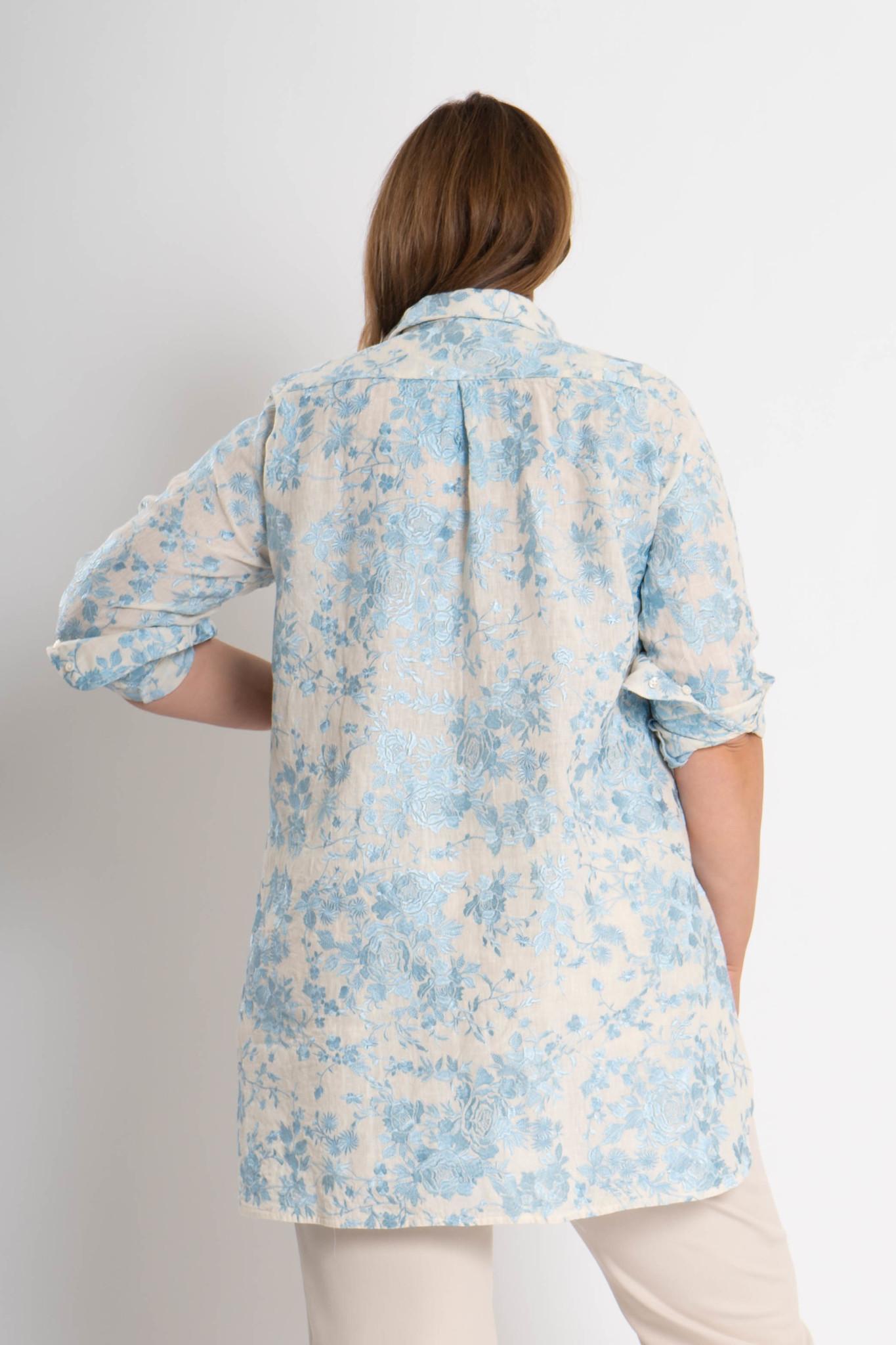GALINA Bluse aus bestickter Leinen-4