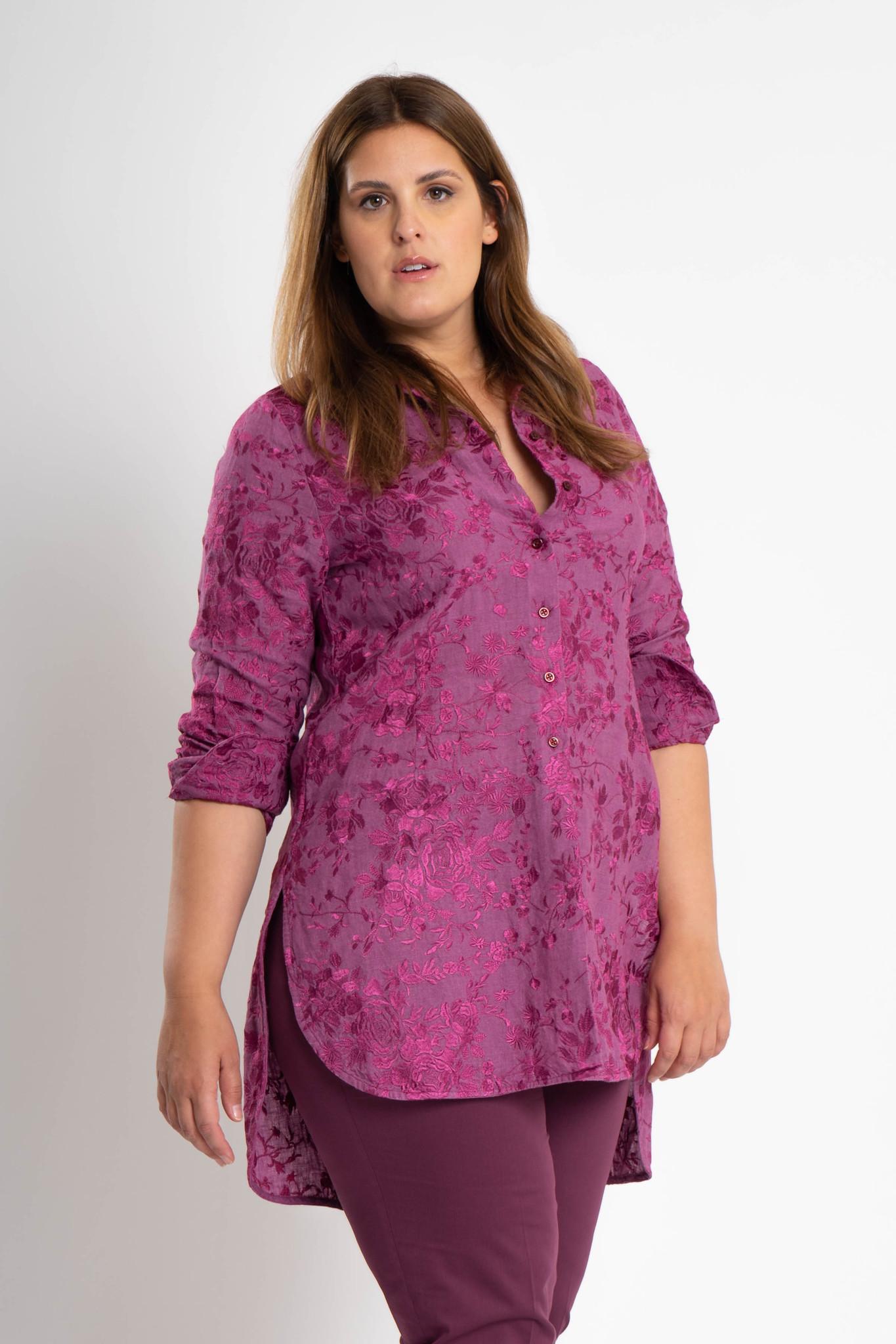 GALINA Bluse aus bestickter Leinen-5