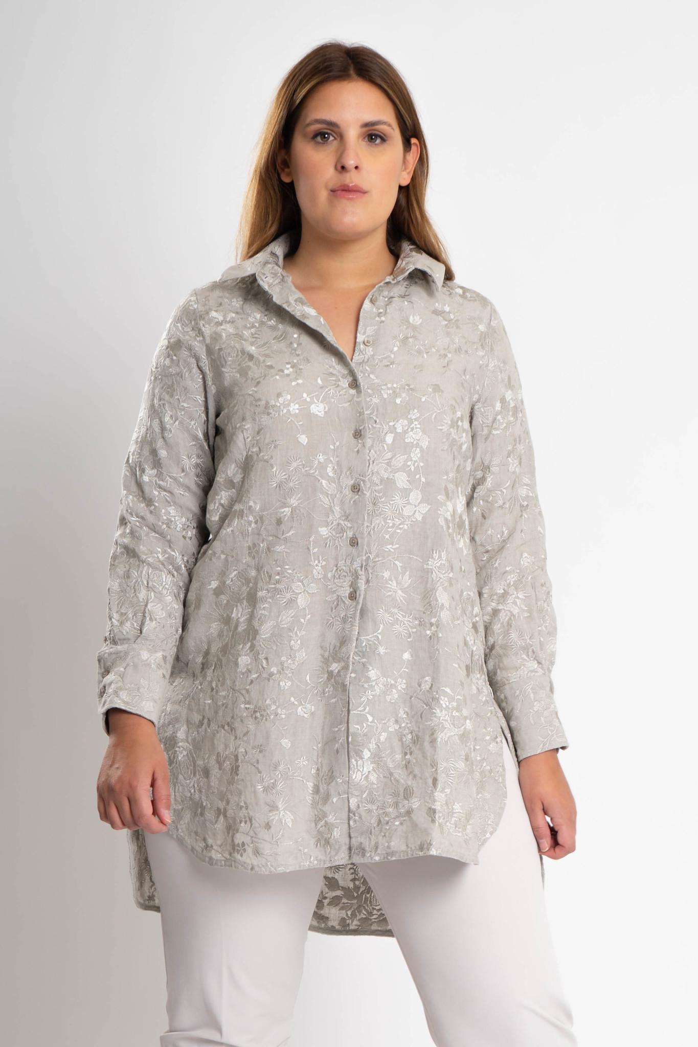GALINA Bluse aus bestickter Leinen-6