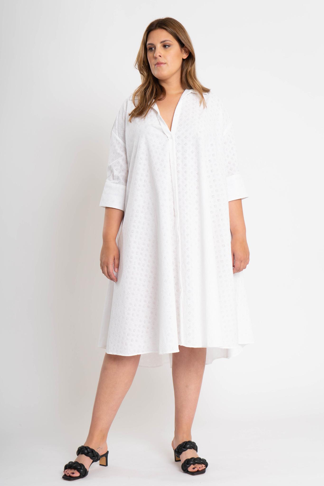 ADRIANA Kleid aus bestickter Baumwolle-2
