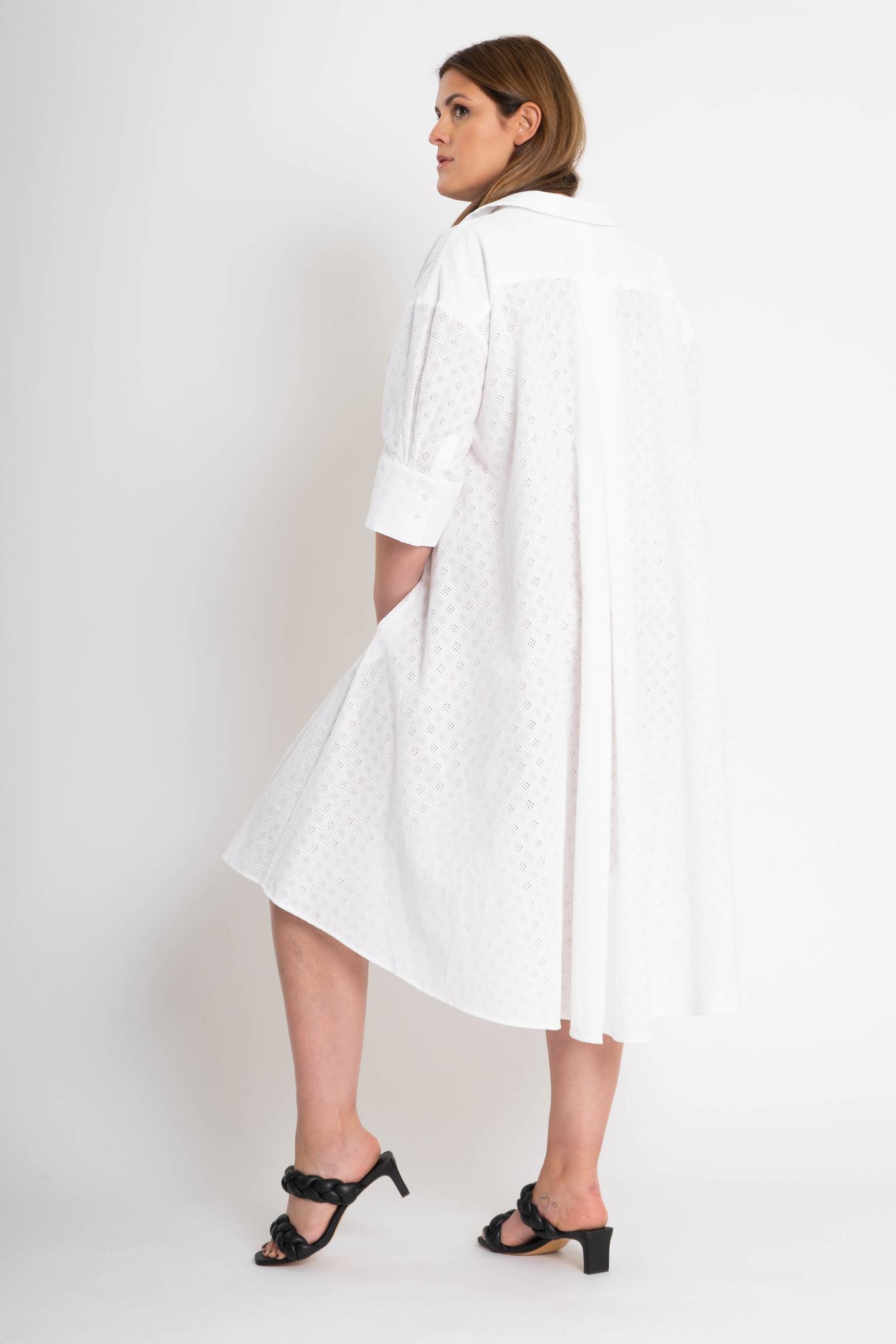 ADRIANA Kleid aus bestickter Baumwolle-5