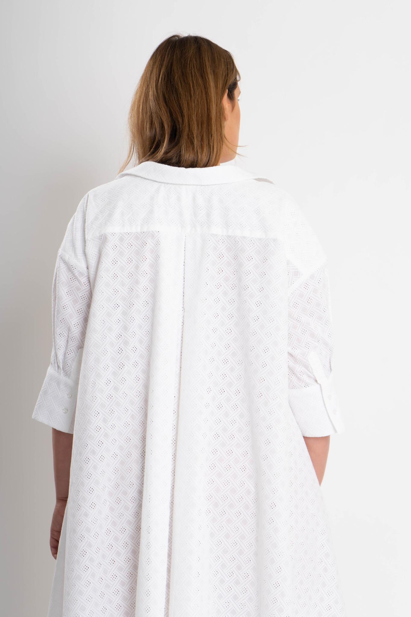 ADRIANA Kleid aus bestickter Baumwolle-3