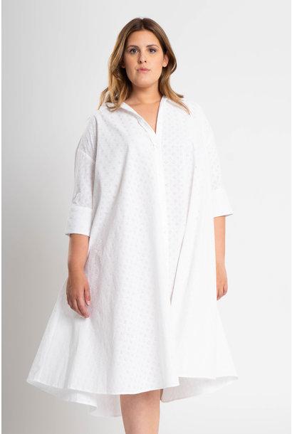 ADRIANA Kleid aus bestickter Baumwolle