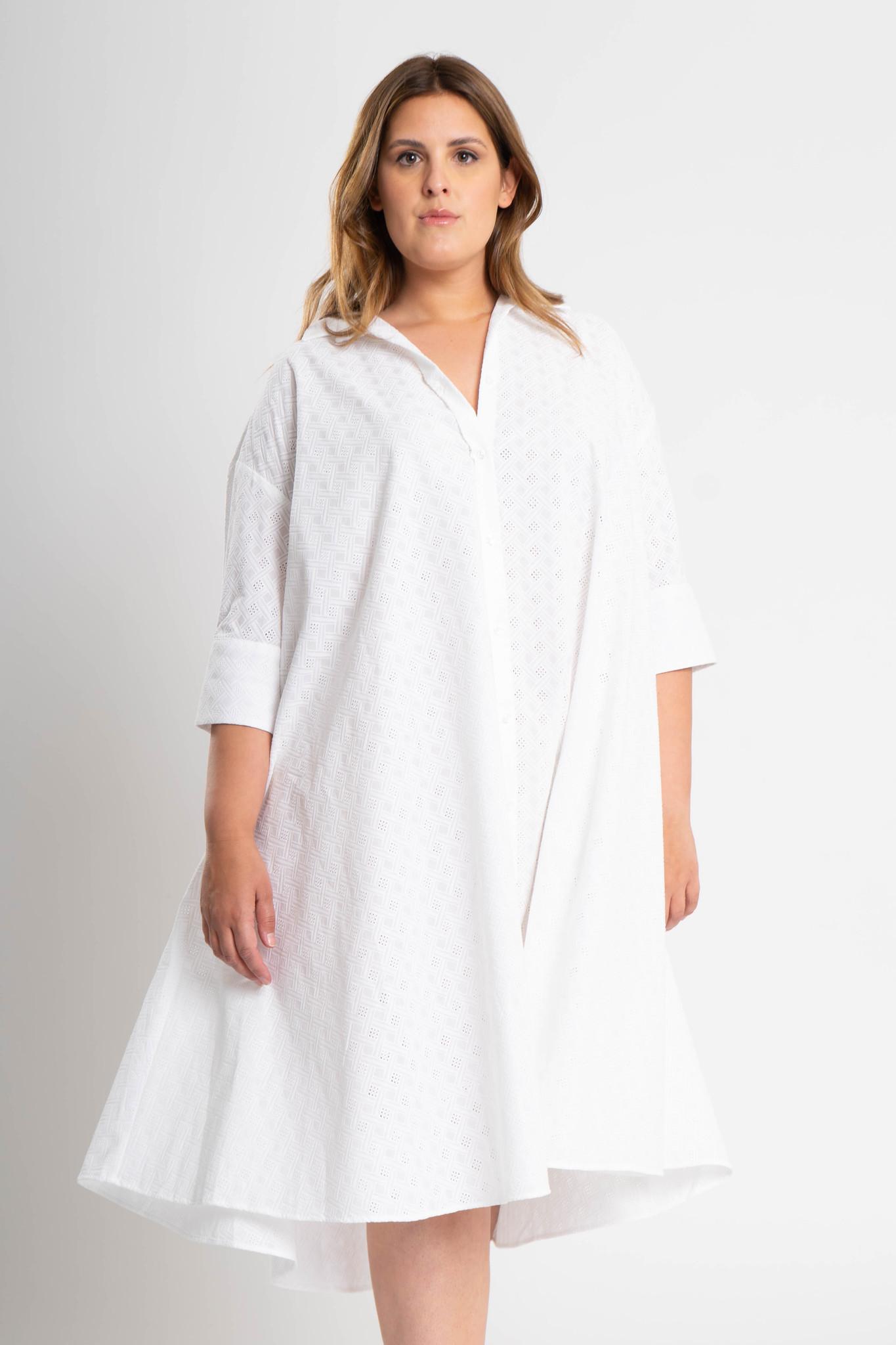 ADRIANA Kleid aus bestickter Baumwolle-1