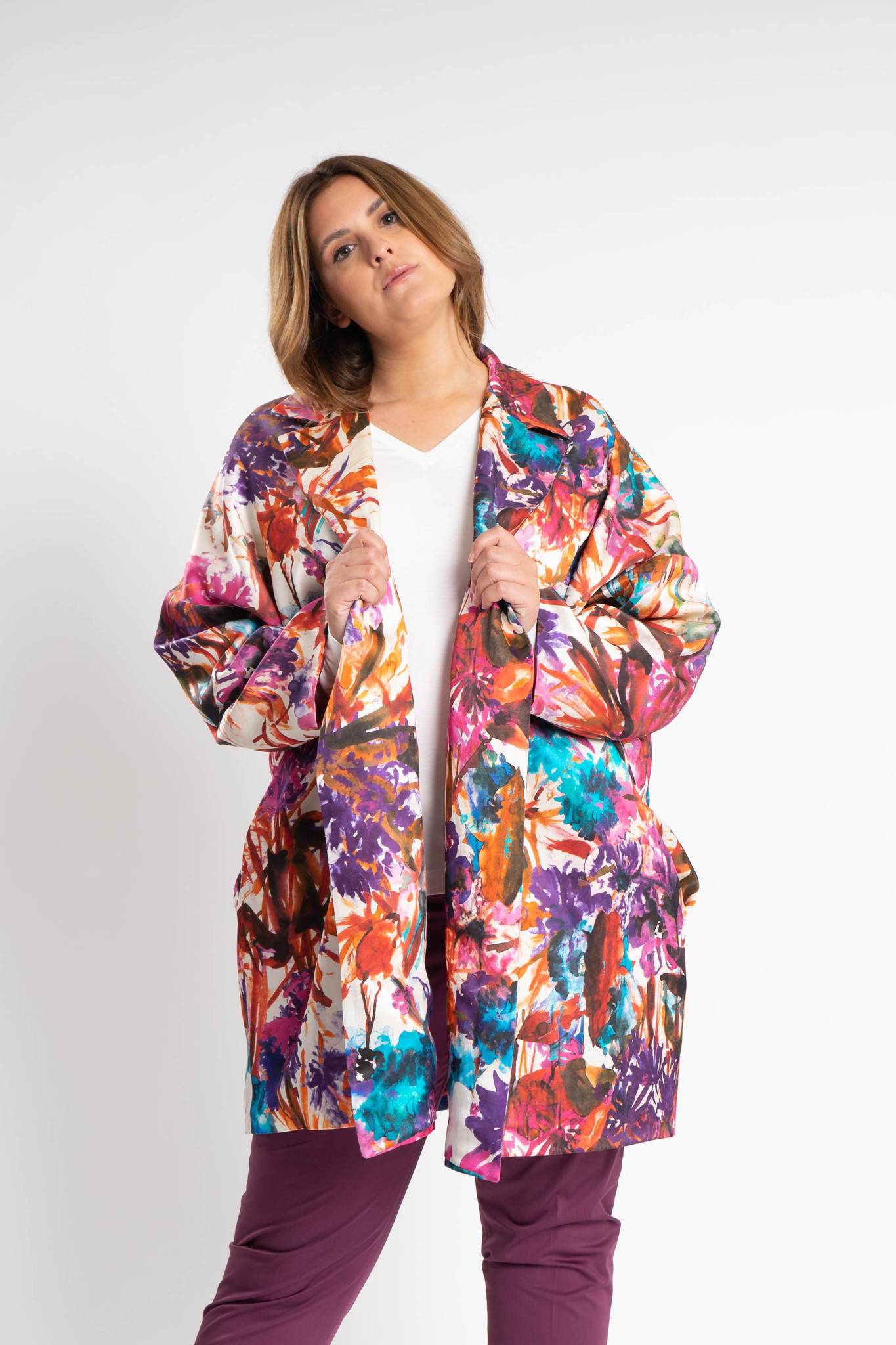 KAORI Coat in Silk-1