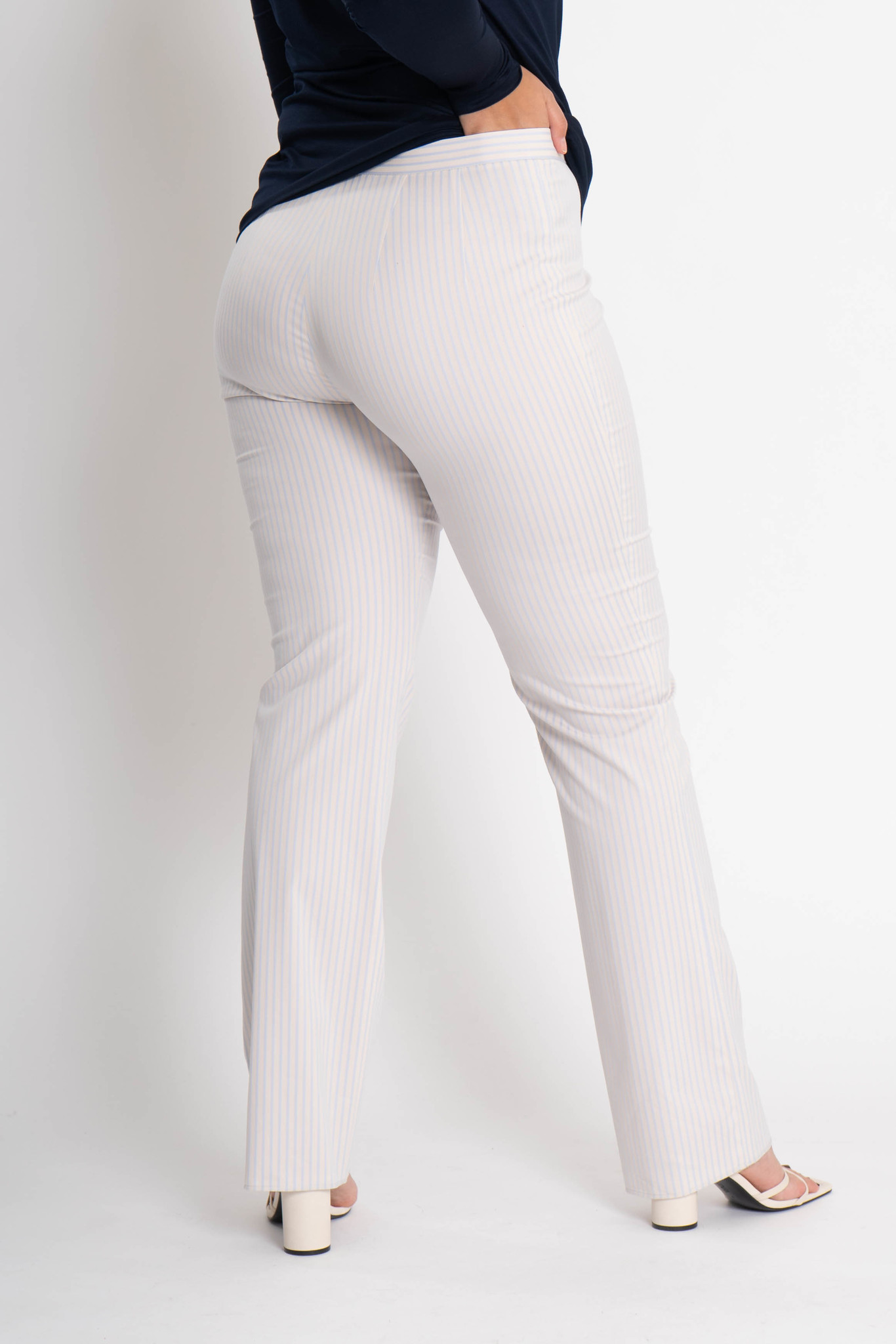 ZWOLF Trousers in striped stretch cotton mix-3