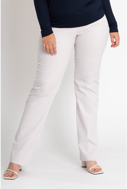 ZWOLF Trousers in striped stretch cotton mix