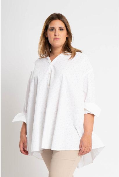 ANDREA Bluse aus bestickter Baumwolle