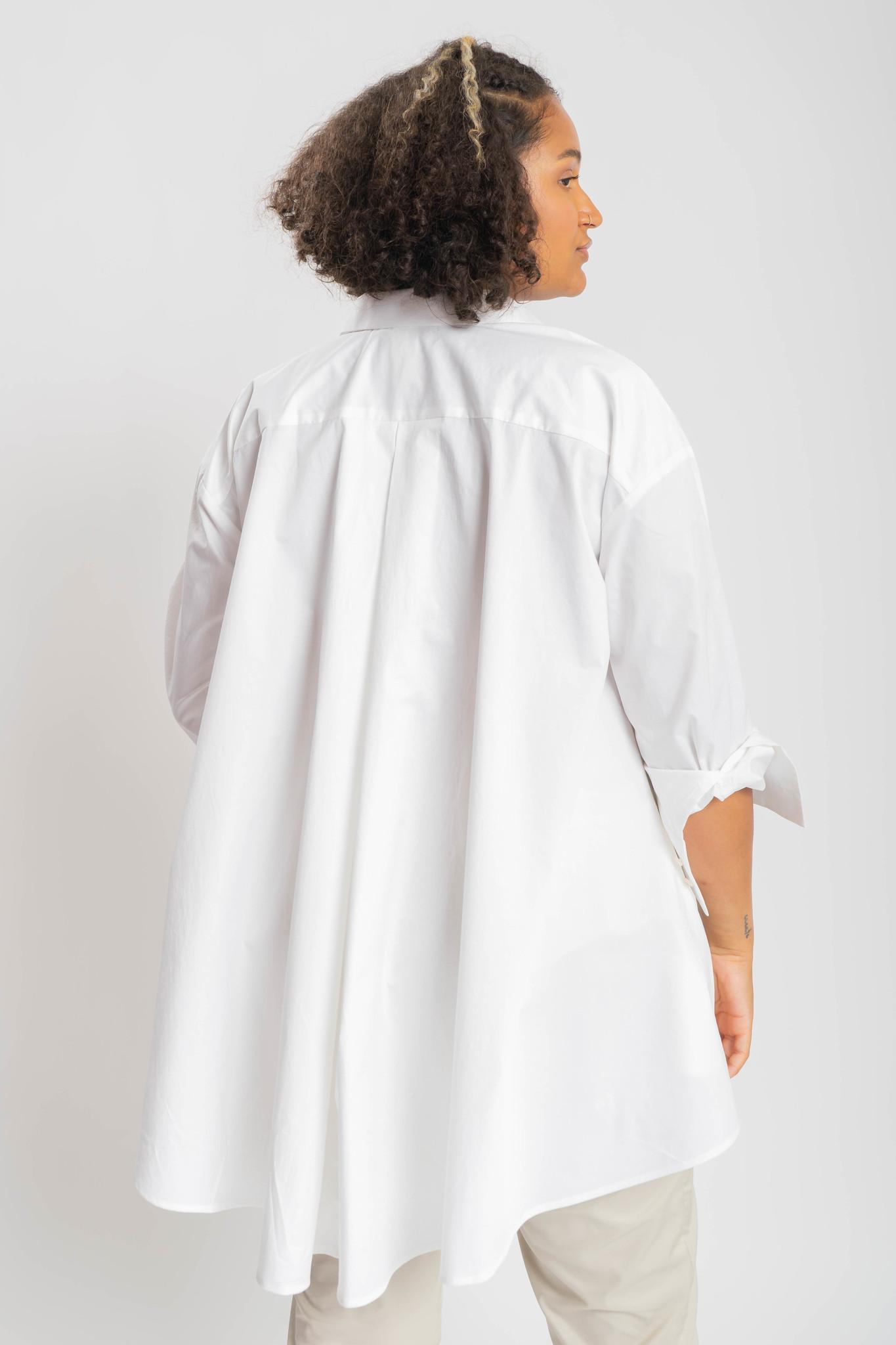 ANDREA Bluse aus leicht gecrashter Baumwolle-3