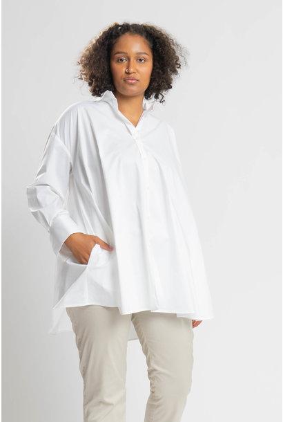 ANDREA Bluse aus leicht gecrashter Baumwolle