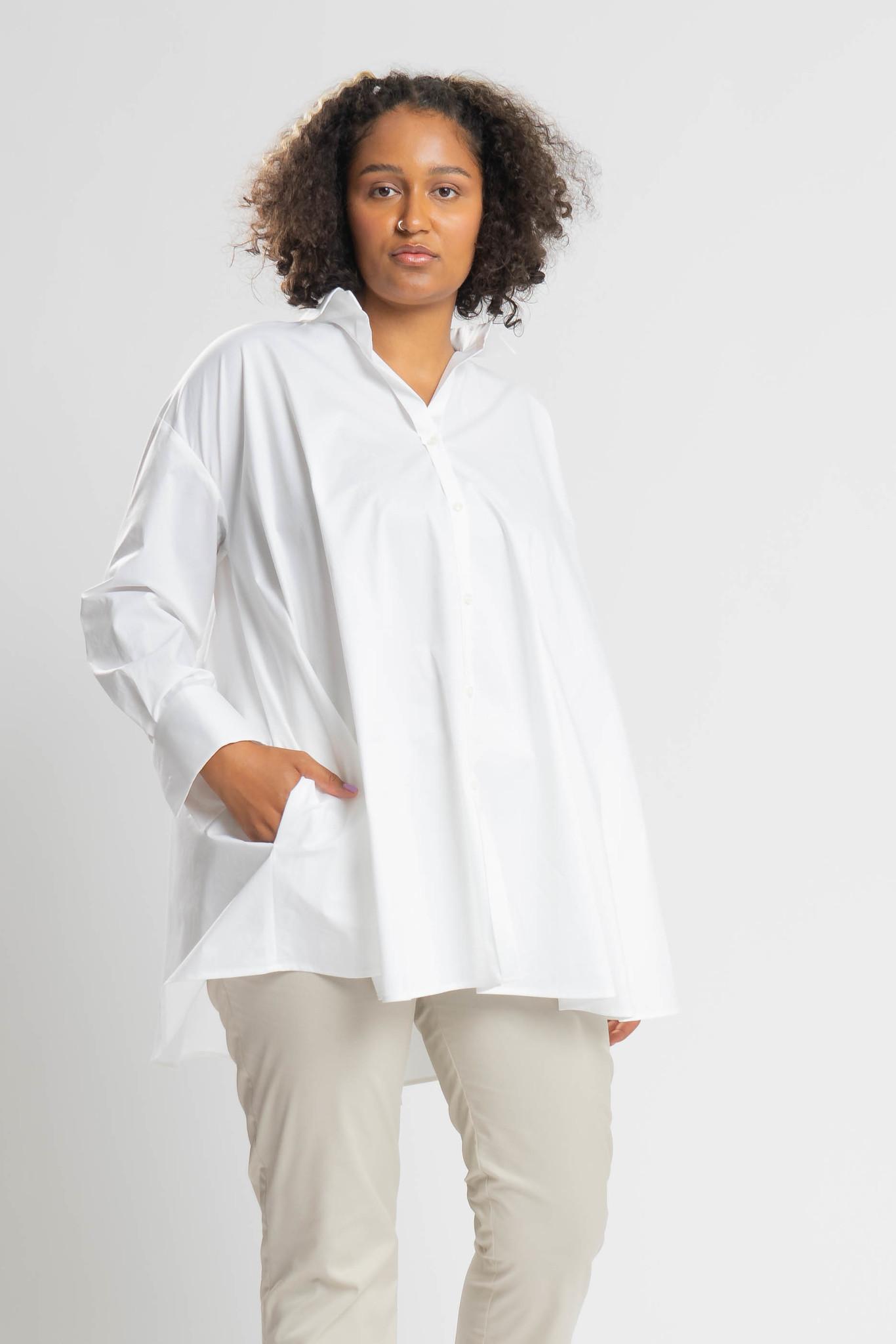 ANDREA Bluse aus leicht gecrashter Baumwolle-1