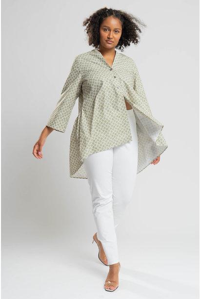 KIA Bluse aus Baumwoll-Stretch