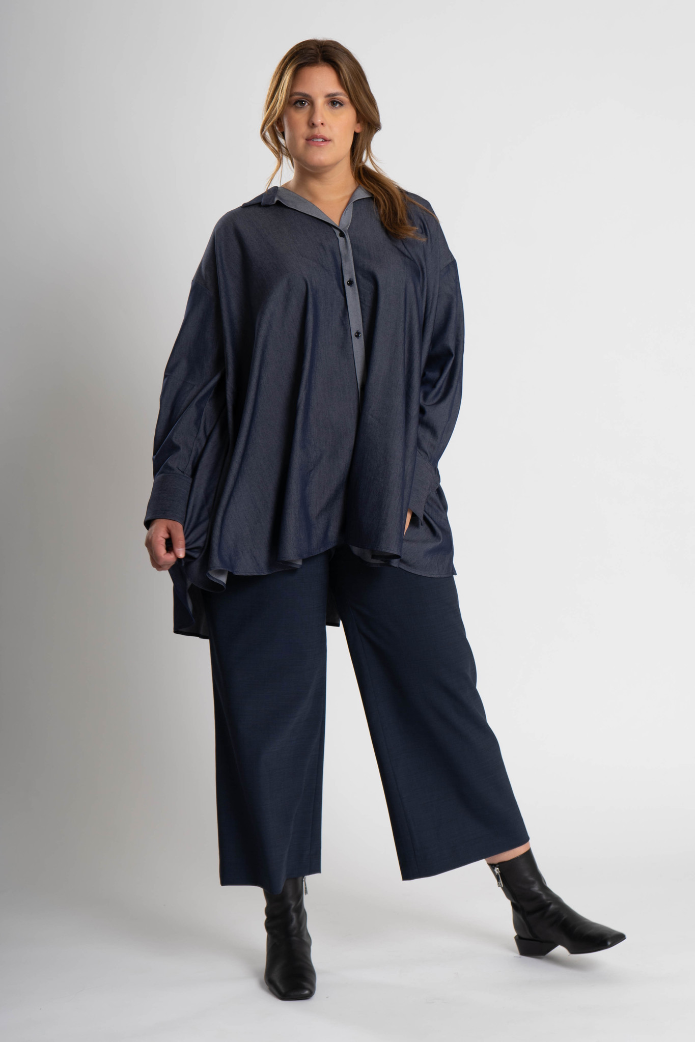 ADRIA Blouse in Chambray-2