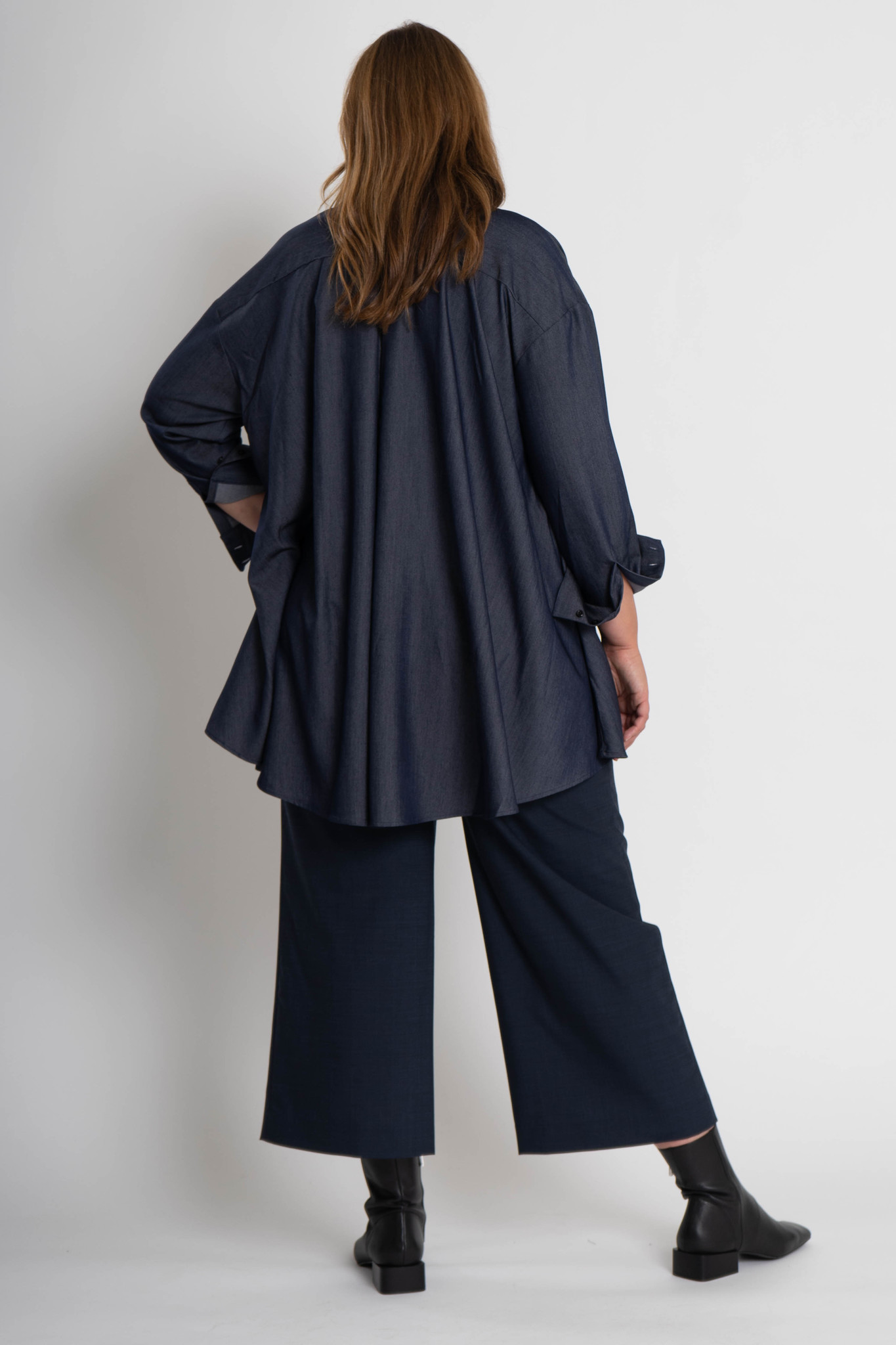 ADRIA Blouse in Chambray-3