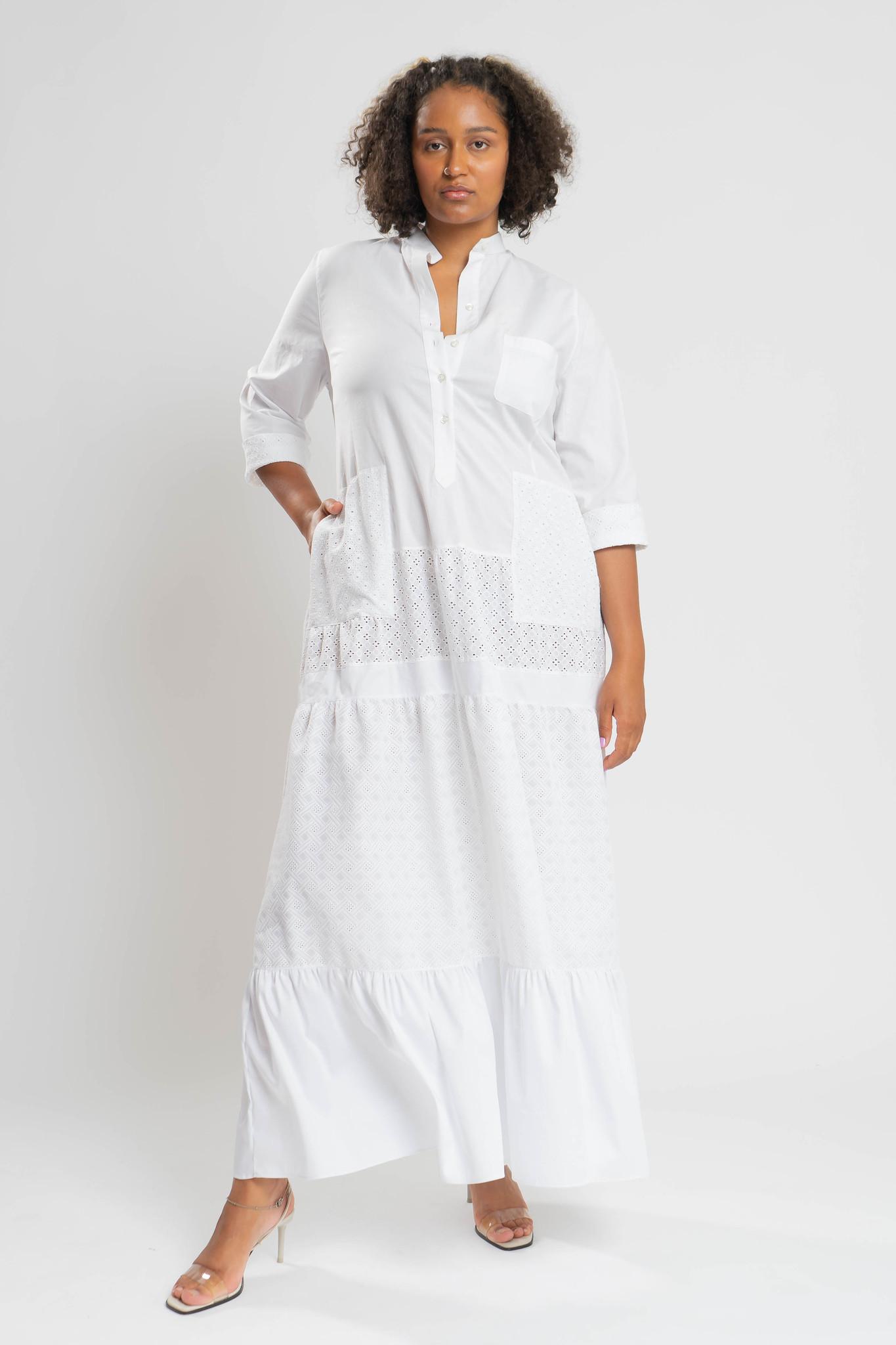 RAIKA Upcycle Kleid aus Baumwolle-1