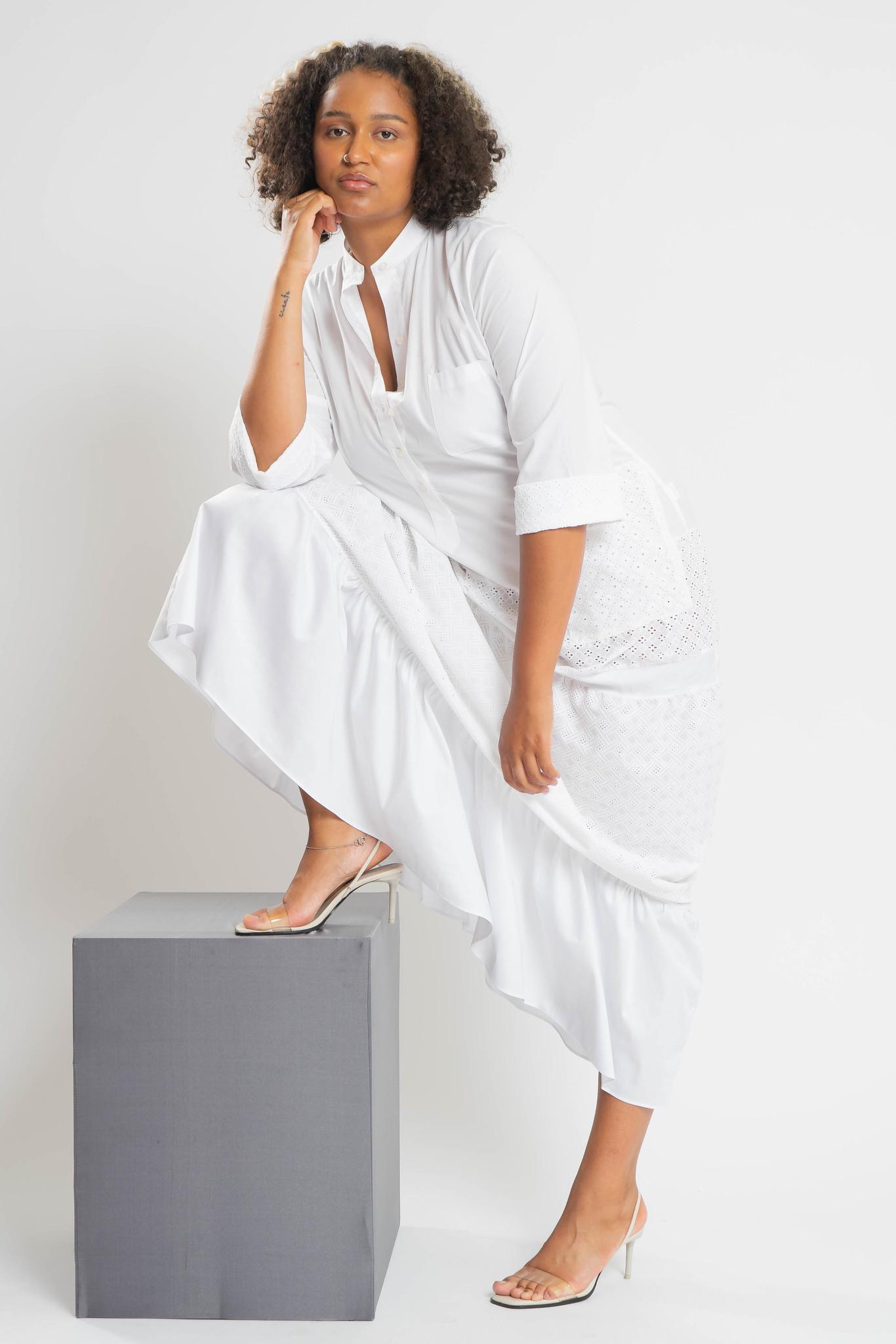 RAIKA Upcycle Kleid aus Baumwolle-5