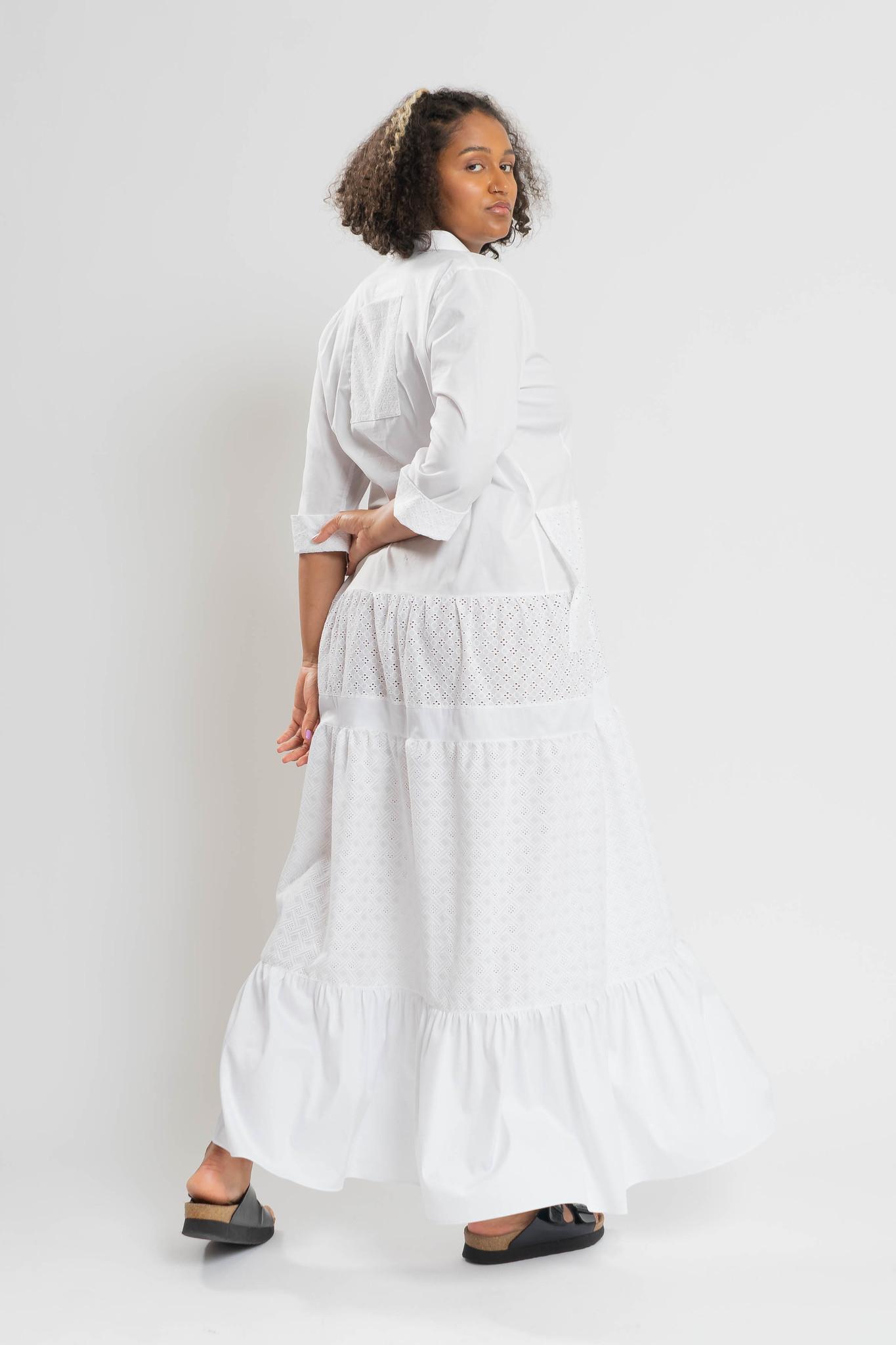 RAIKA Upcycle Kleid aus Baumwolle-2