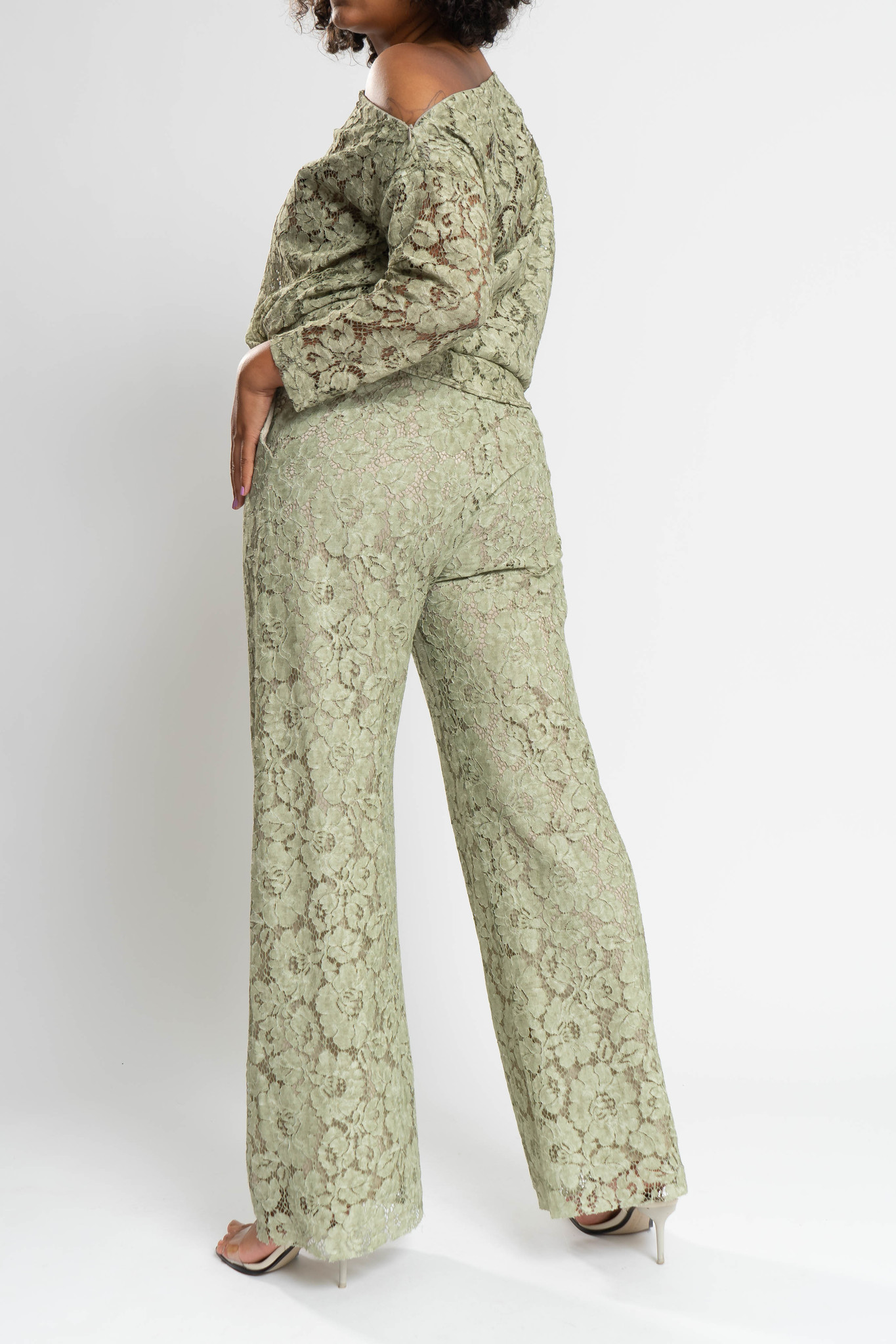 TAINA Lace Trousers in Polyester-2