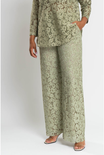 TAINA Lace Trousers in Polyester