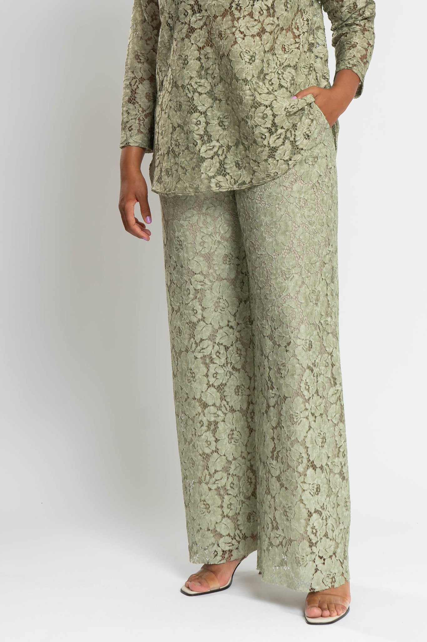 TAINA Lace Trousers in Polyester-1