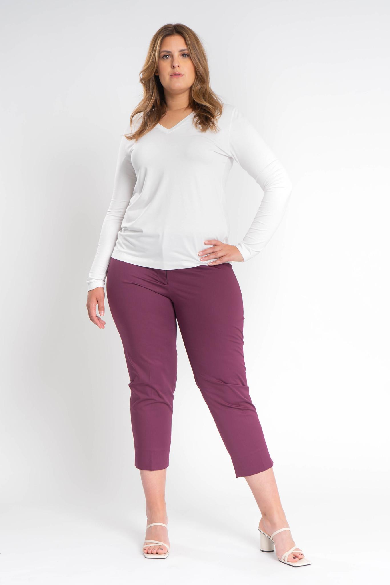 MIU Trousers in Cotton stretch-2