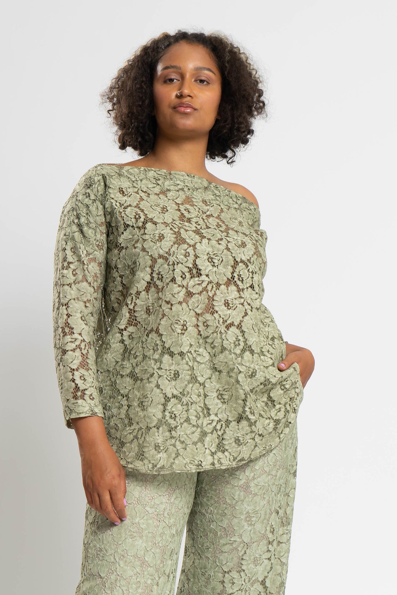 TAINA Top aus Polyester-Spitze-1