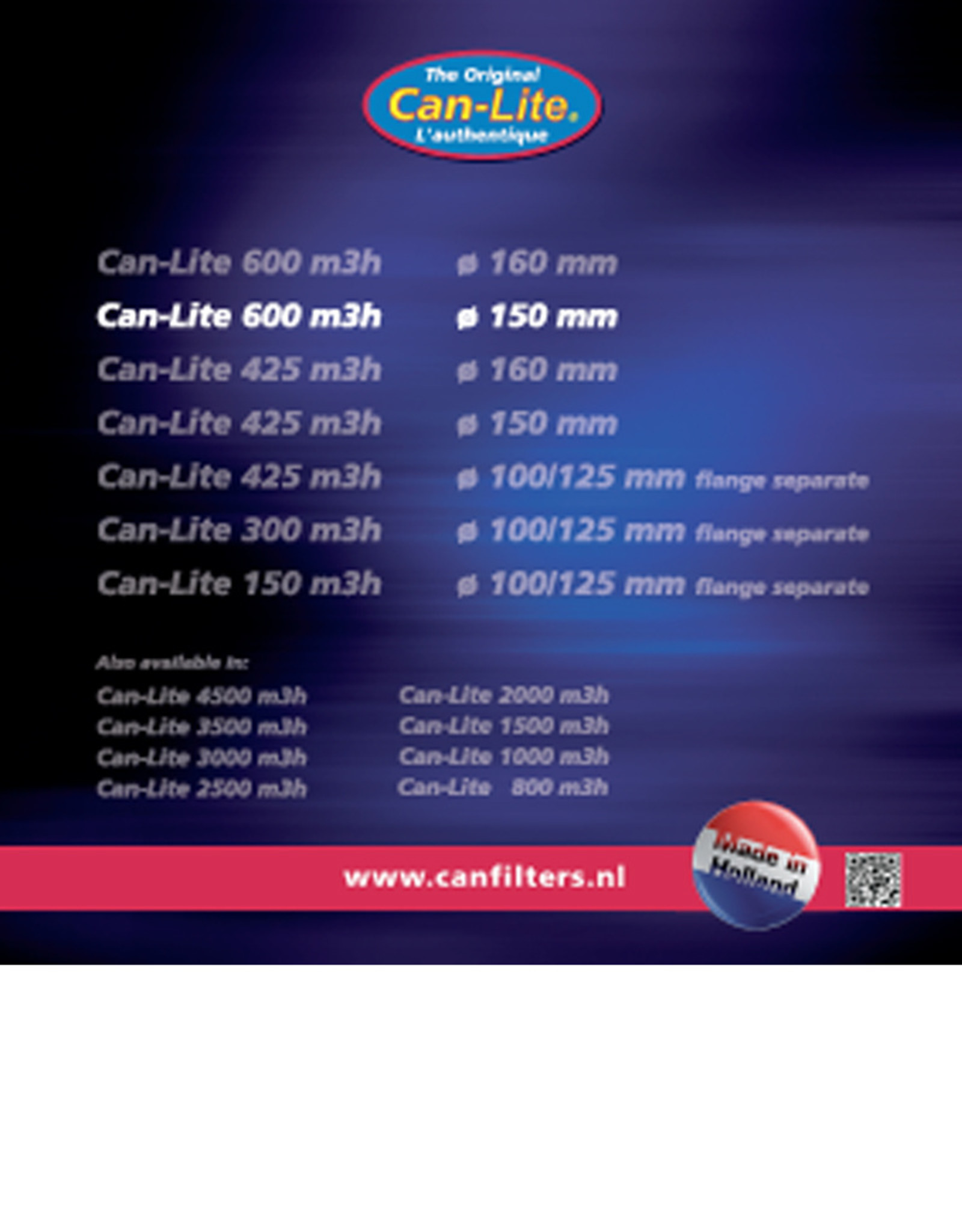CAN CAN LITE FILTER 600