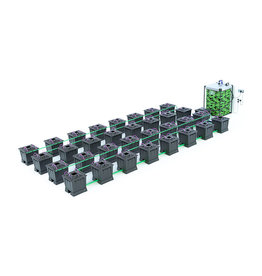 ALIEN HYDROPONICS ALIEN AERO BLACK SERIES 30L  32 POT SYSTEM