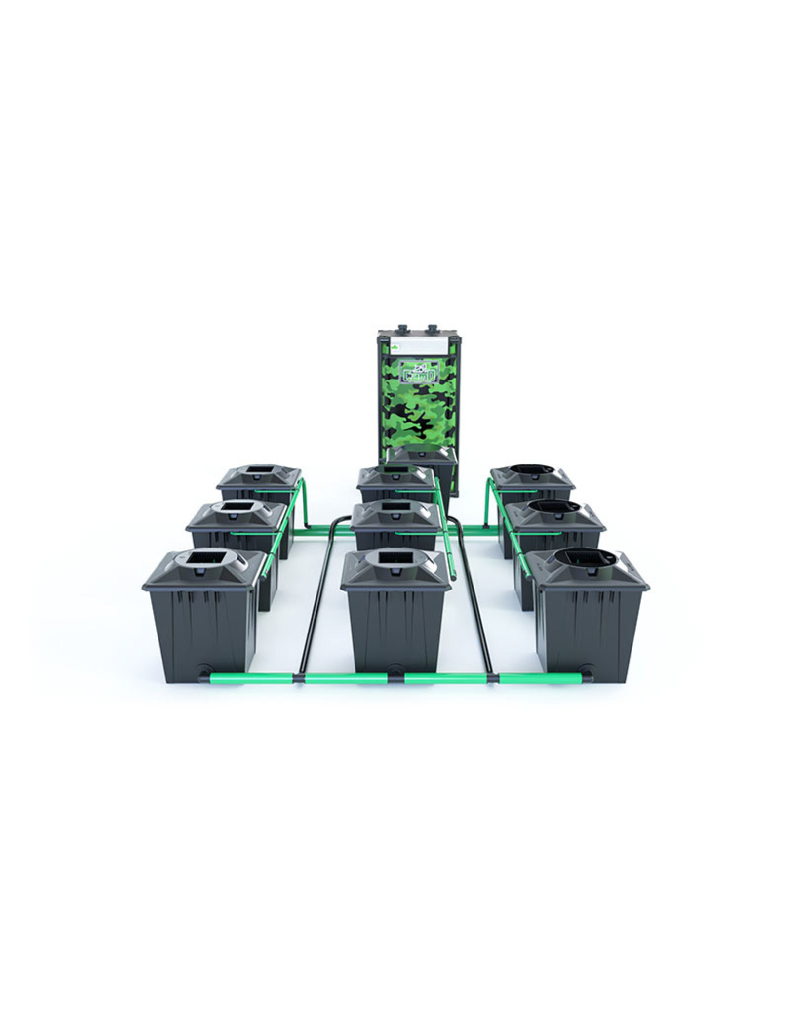 ALIEN HYDROPONICS RDWC BLACK SERIES 20L  9 POT SYSTEM