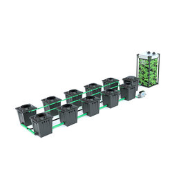 ALIEN HYDROPONICS RDWC BLACK SERIES 20L  10 POT SYSTEM