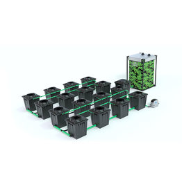 ALIEN HYDROPONICS RDWC BLACK SERIES 20L  16 POT SYSTEM