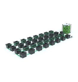 ALIEN HYDROPONICS RDWC BLACK SERIES 36L  32 POT SYSTEM