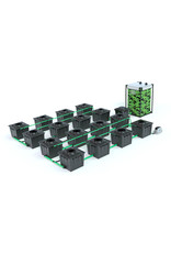 ALIEN HYDROPONICS RDWC BLACK SERIES 36L  16 POT SYSTEM
