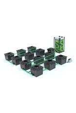 ALIEN HYDROPONICS RDWC BLACK SERIES 36L  12 POT SYSTEM