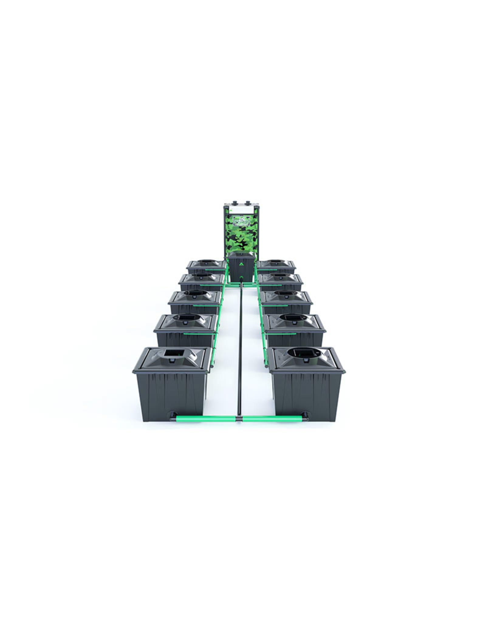 ALIEN HYDROPONICS RDWC BLACK SERIES 36L  10 POT SYSTEM
