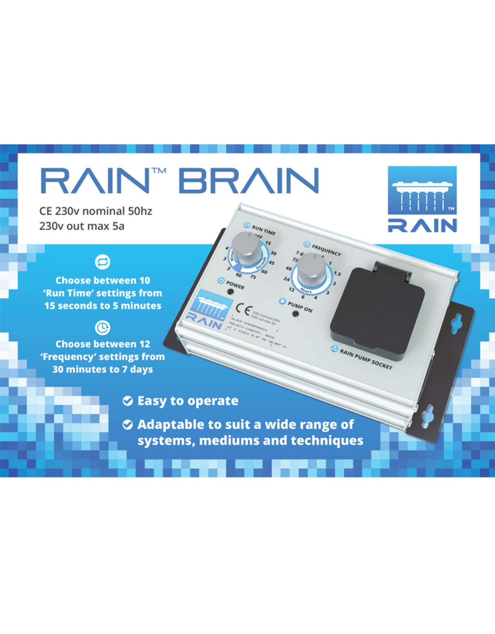 ALIEN HYDROPONICS ALIEN RAIN SILVER SERIES 15L 6 POT SYSTEM