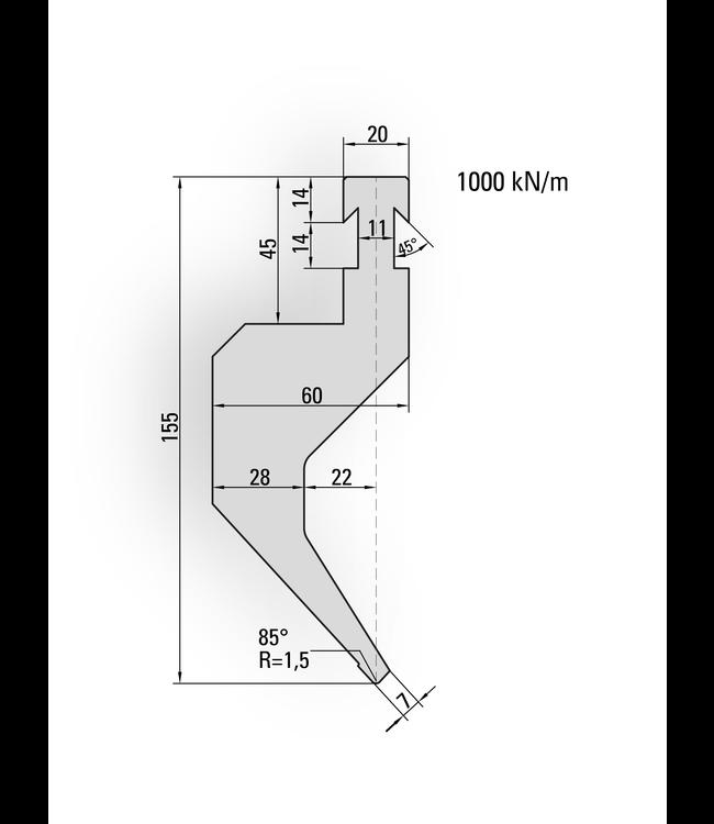 14.205 - 550 mm Länge sekt.