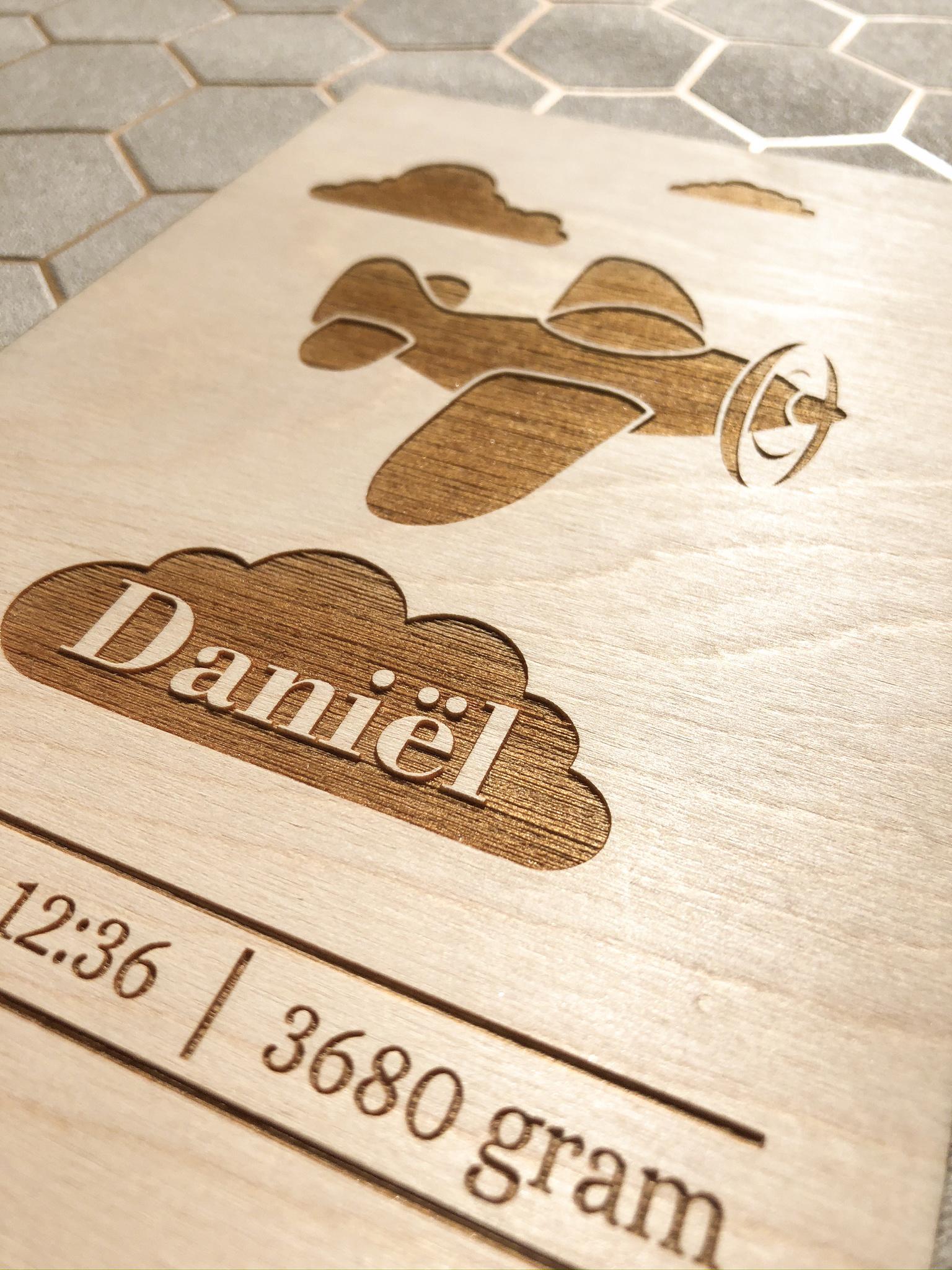 Babykamer Inspiratie - Geboorteposter Daniël