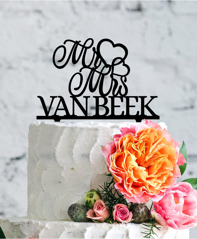 Bruidstaart Topper – Mr & Mrs Sierlijk