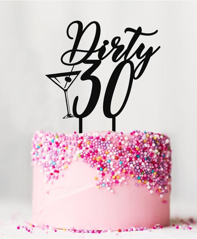 Taarttopper Verjaardag - Dirty 30