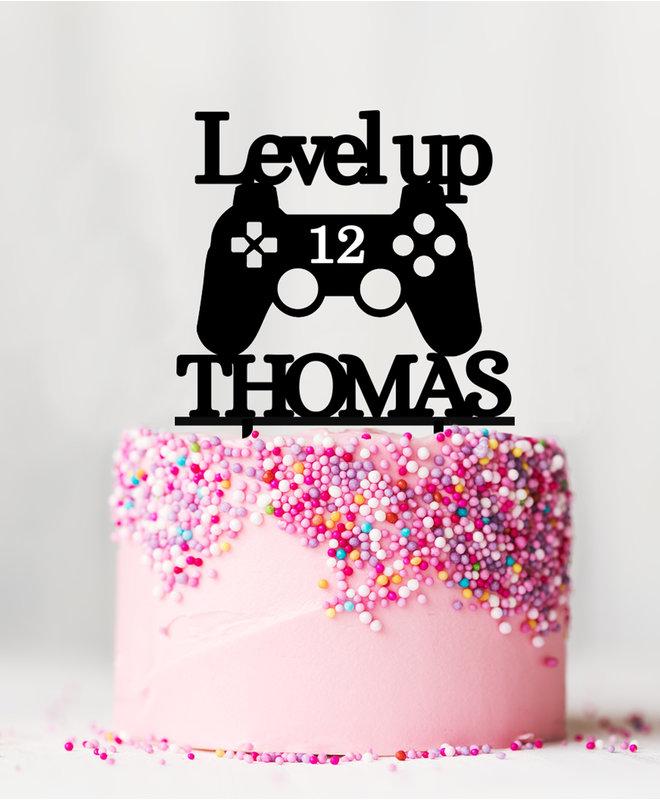 Taarttopper Gaming met Naam en Leeftijd