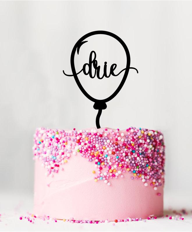 Taarttopper Verjaardag - 3 Jaar