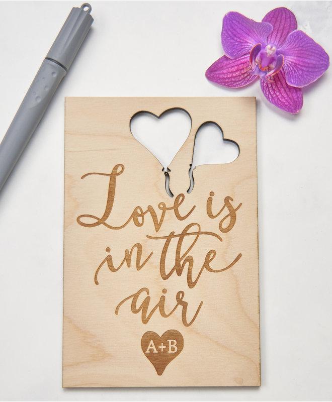 Houten Kaart - Love is in the Air